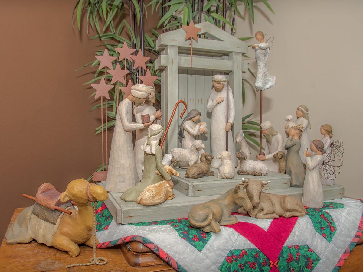 Deck the halls - nativity scene