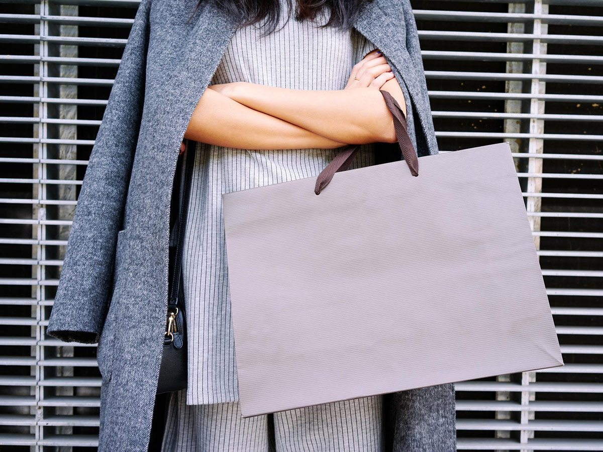 Well-to-do woman shopping