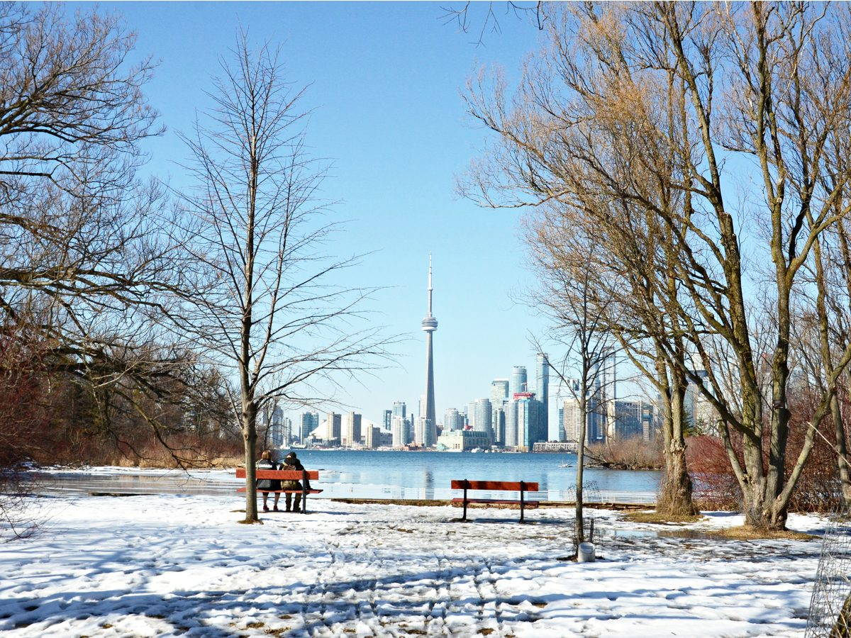 Toronto winter as seen from Ward's Island
