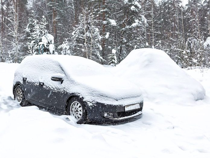 Freezing point of gasoline - frozen car in winter snow