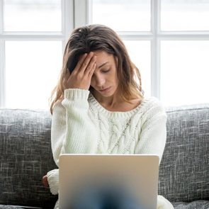 Woman experiencing holiday stress