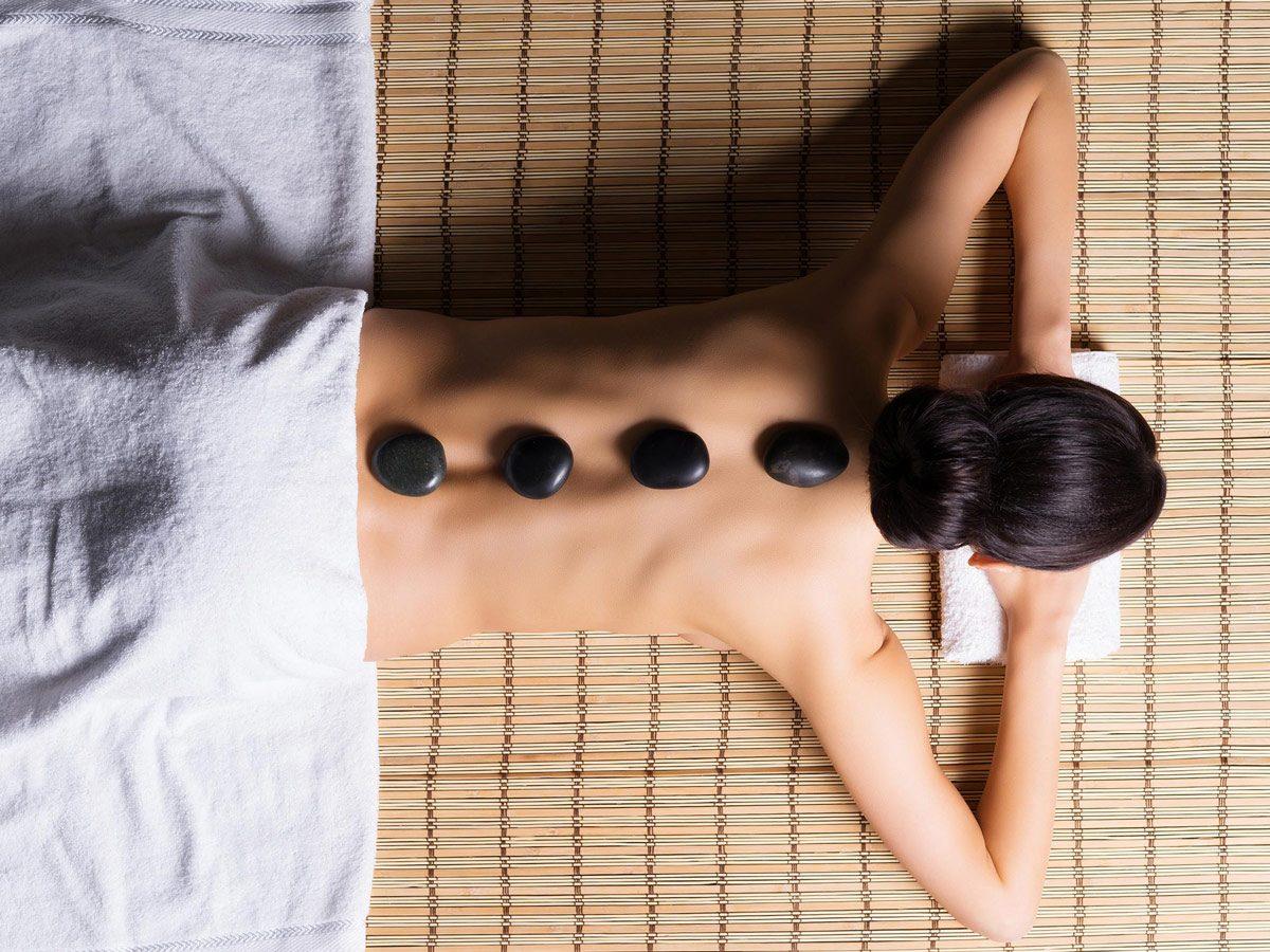 Woman enjoying a spa treatment