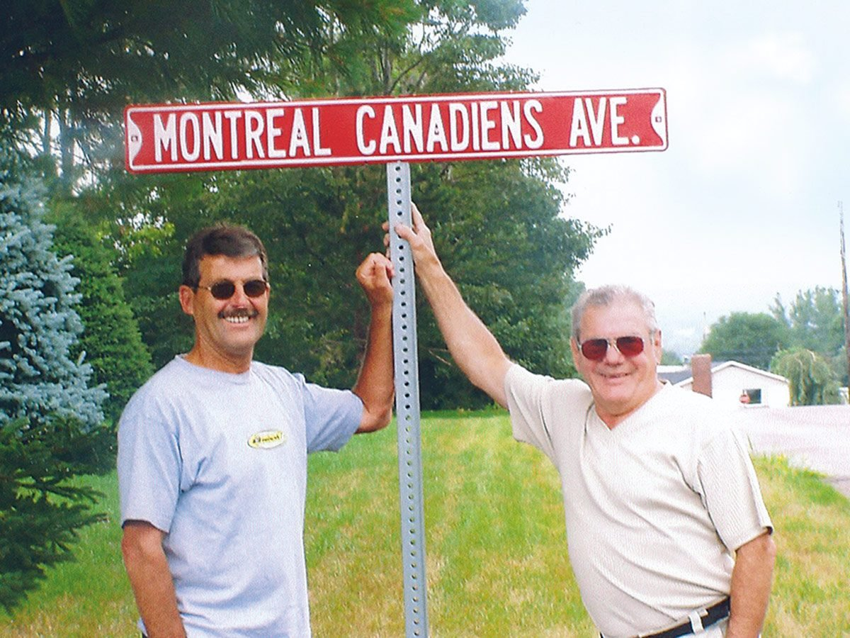 Montreal Canadians street sign