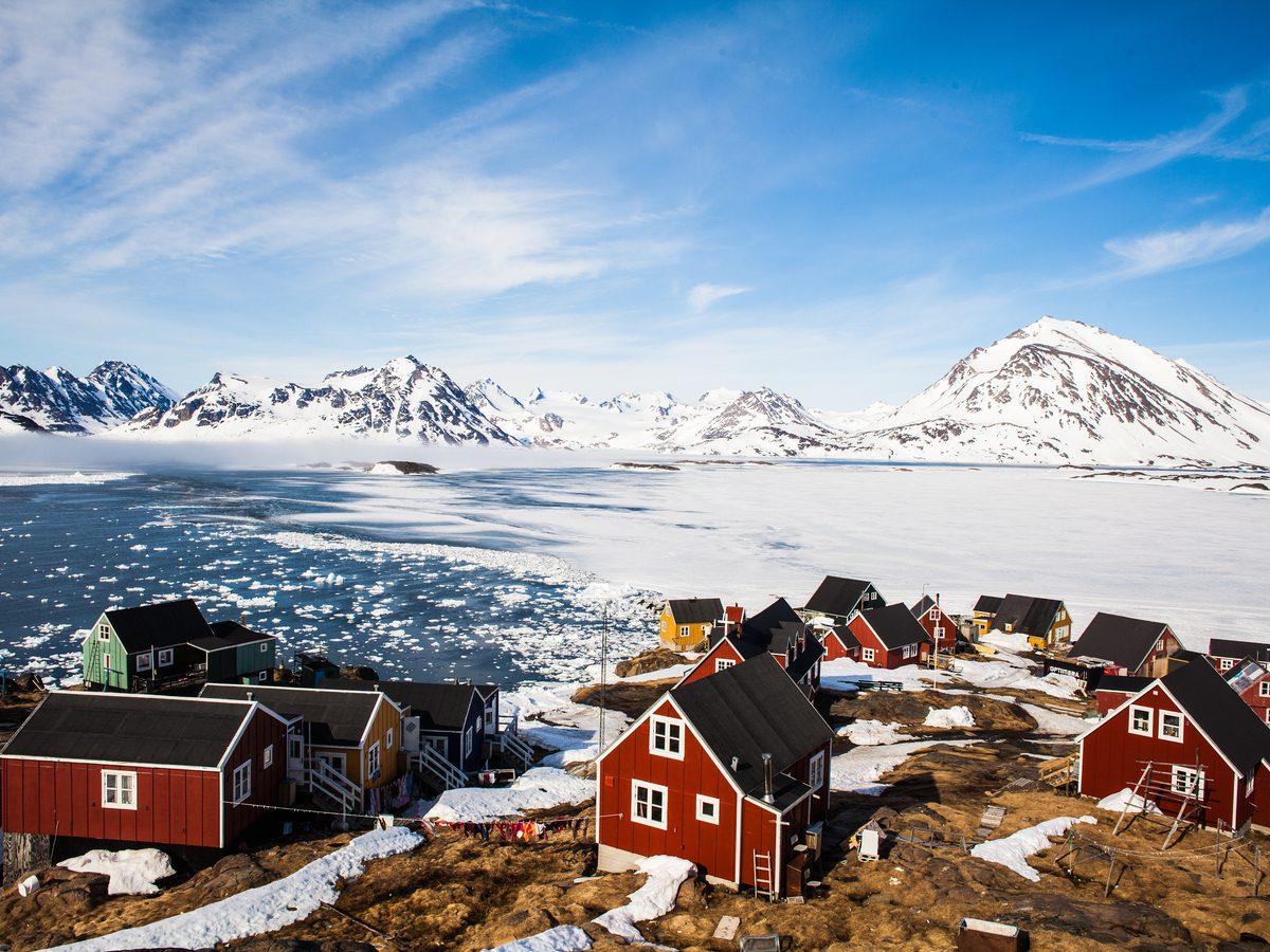 Wintery landscape in Greenland
