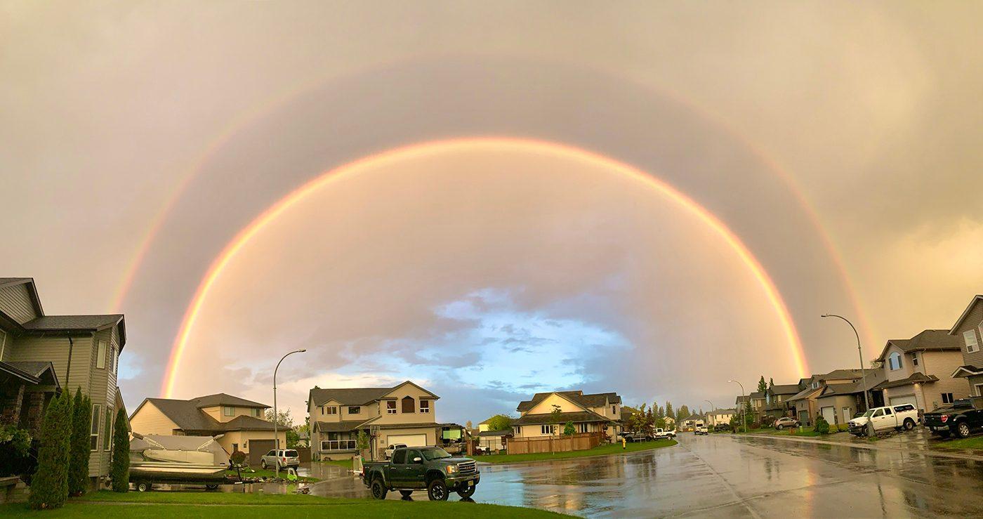 Rainbow photography - Prince George, B.C. rainbow