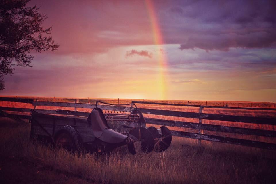 Rainbow photography - southern Alberta prairies rainbow