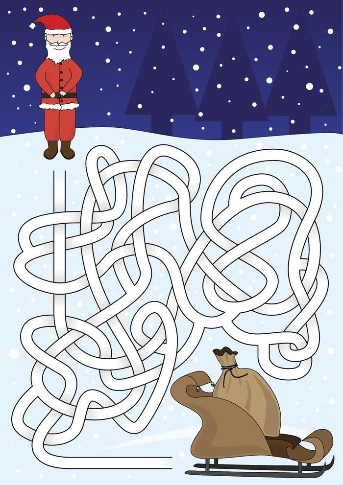 santa maze question illustration
