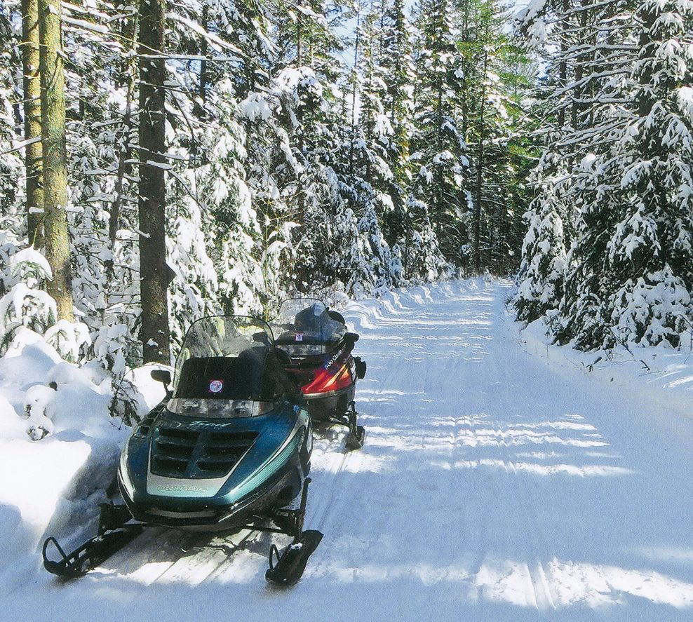 Snowmobile trail in southwestern Ontario