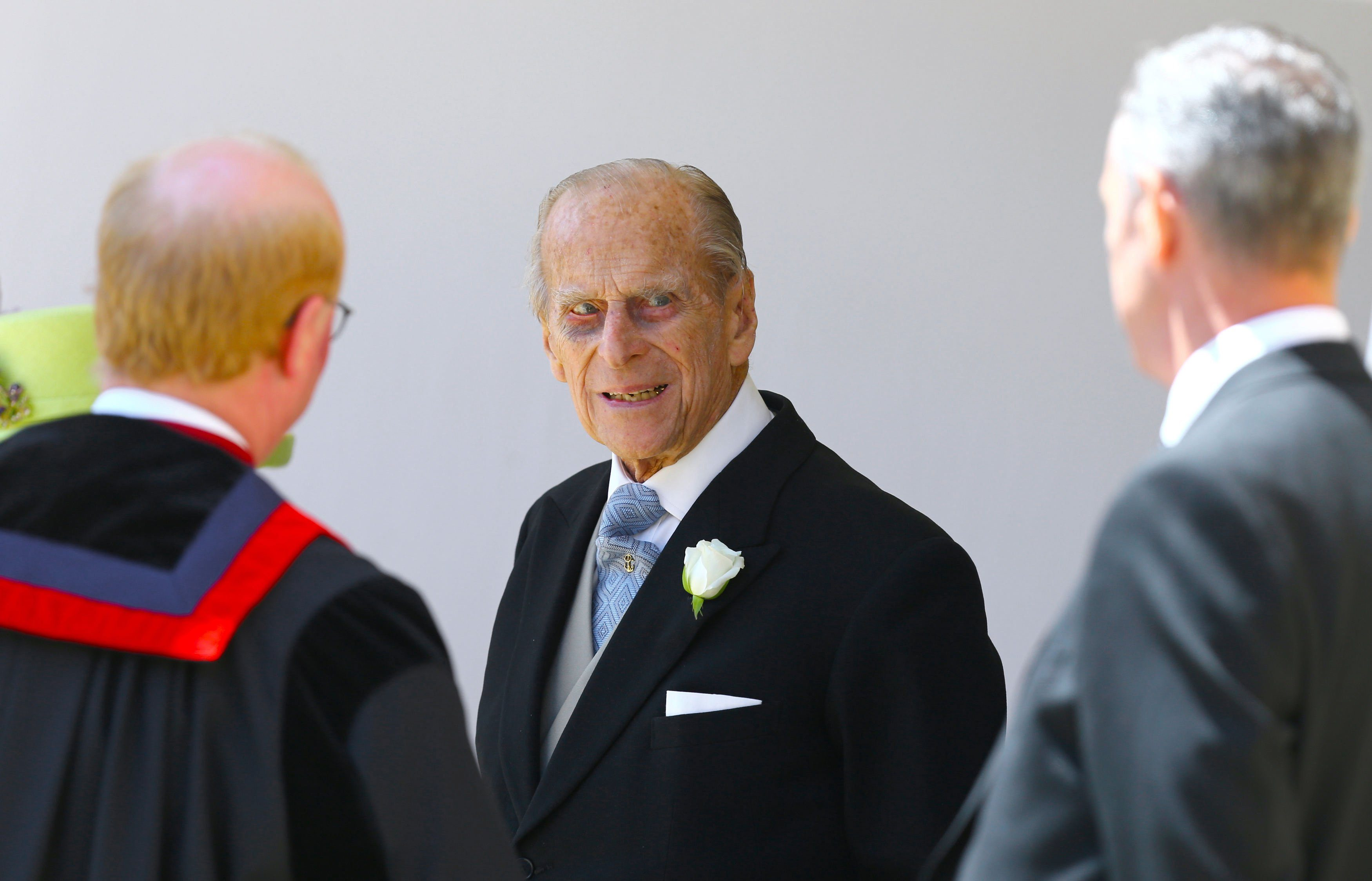 Mandatory Credit: Photo by Shutterstock (9685436hw) Prince Philip The wedding of Prince Harry and Meghan Markle, Ceremony, St George's Chapel, Windsor Castle, Berkshire, UK - 19 May 2018