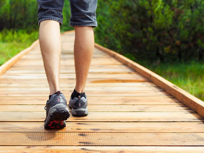 Walking 10,000 steps a day builds muscle