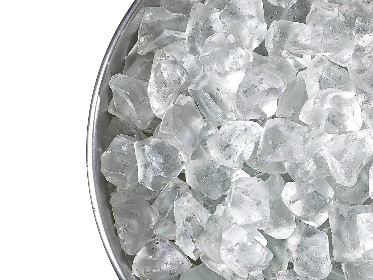 Home remedies for back pain - bucket of ice
