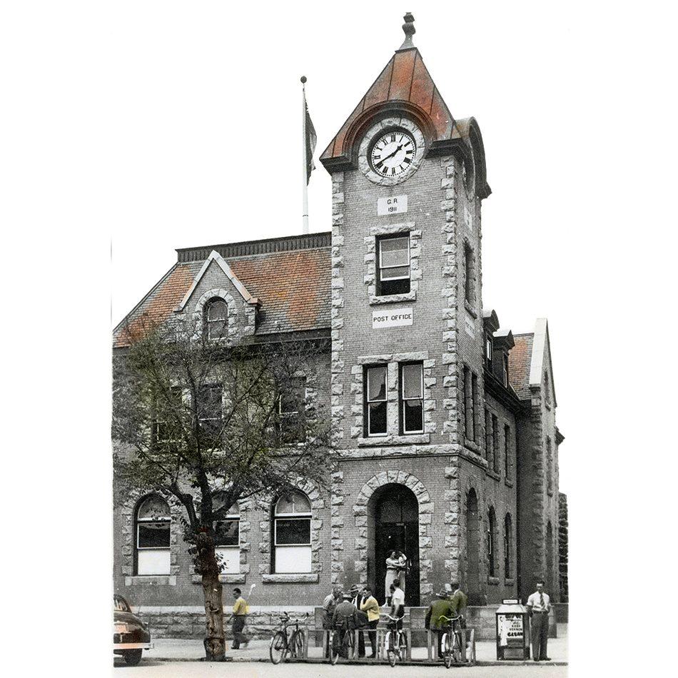The Vernon, B.C., post office clock
