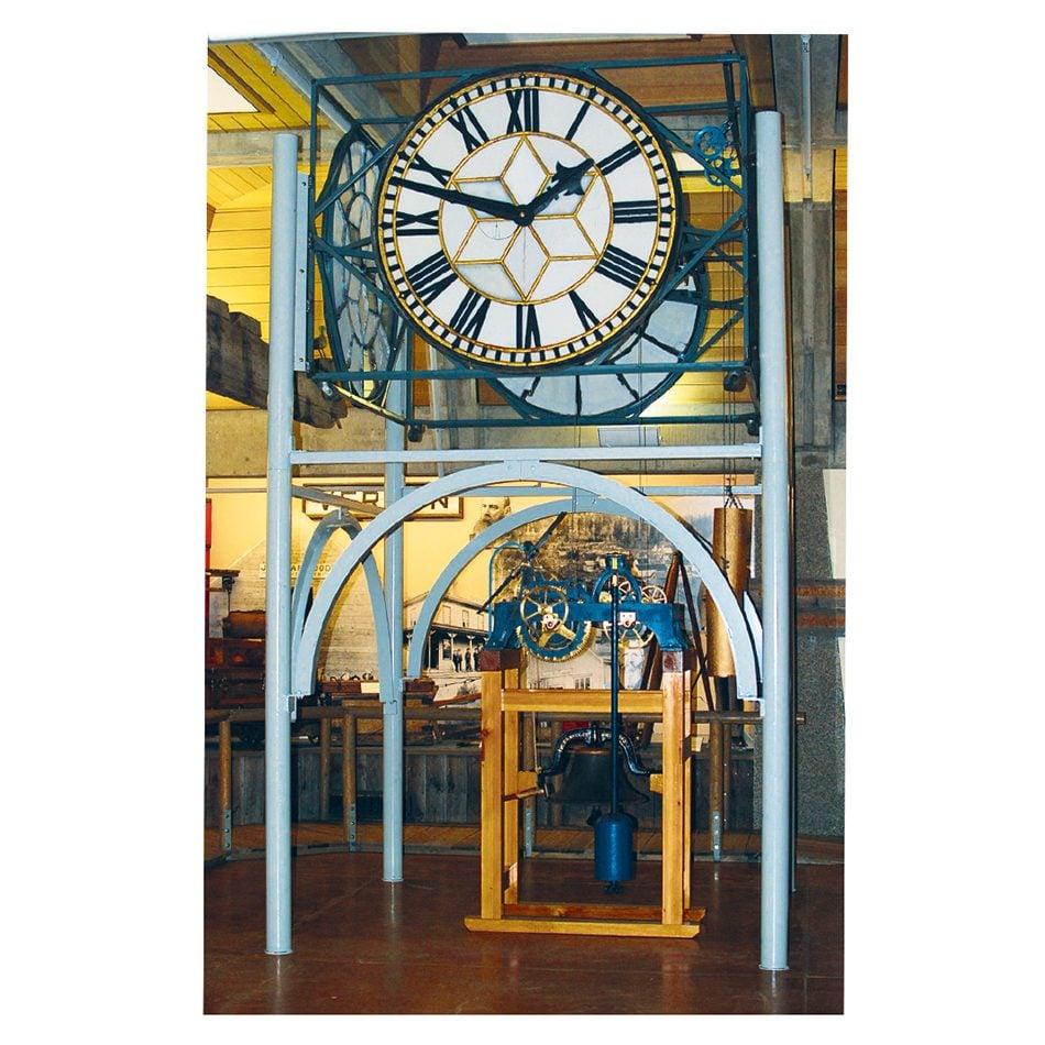 The Vernon, B.C., post office clock today