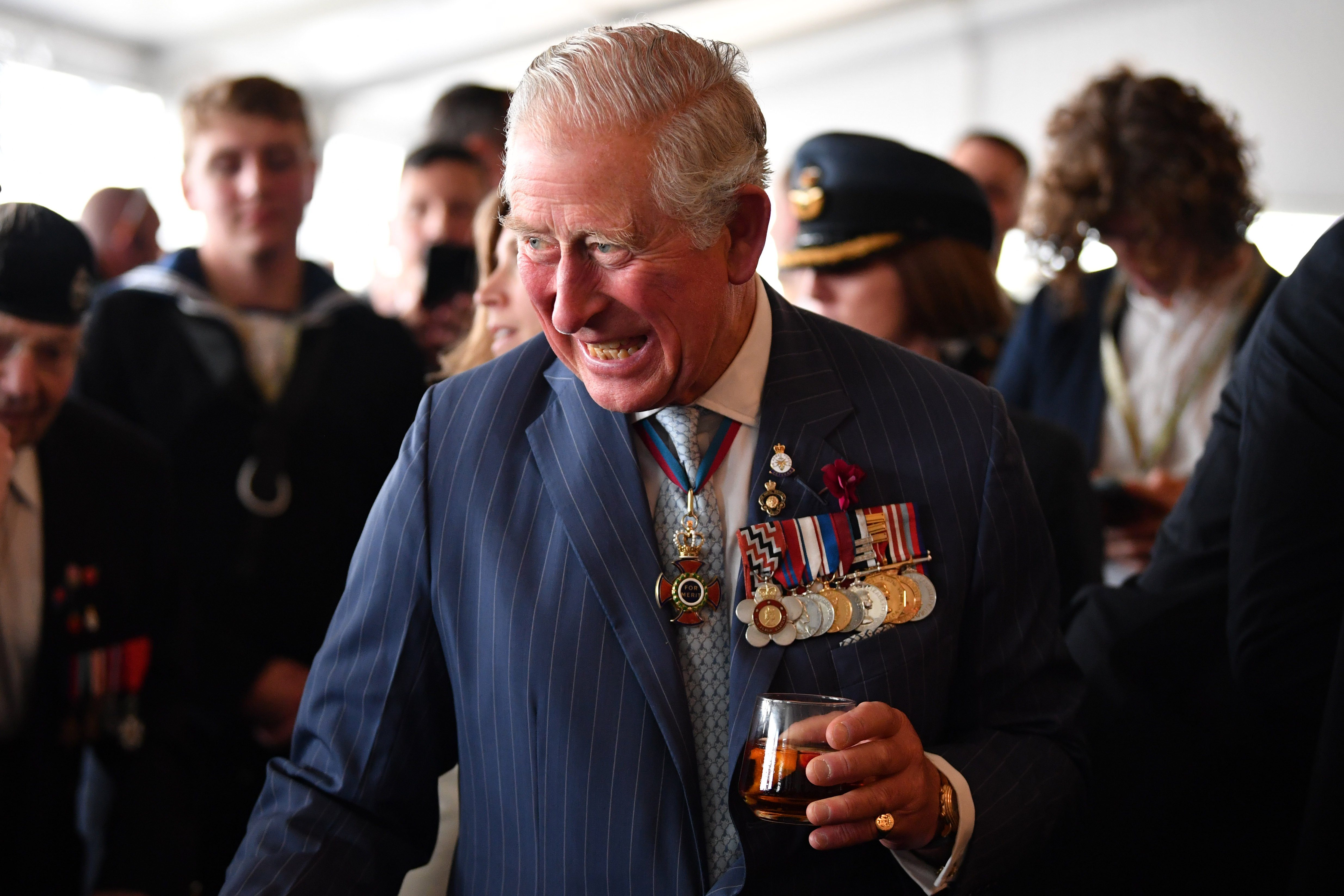 Prince Charles meets veterans 5 Jun 2019