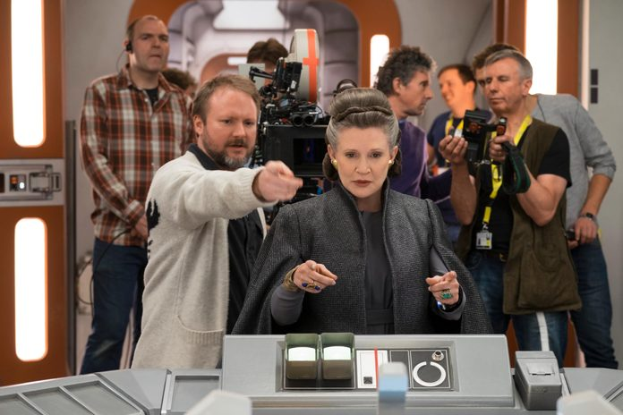 """Carrie Fisher on the set of """"Star Wars: The Last Jedi"""" Film - 2017"""