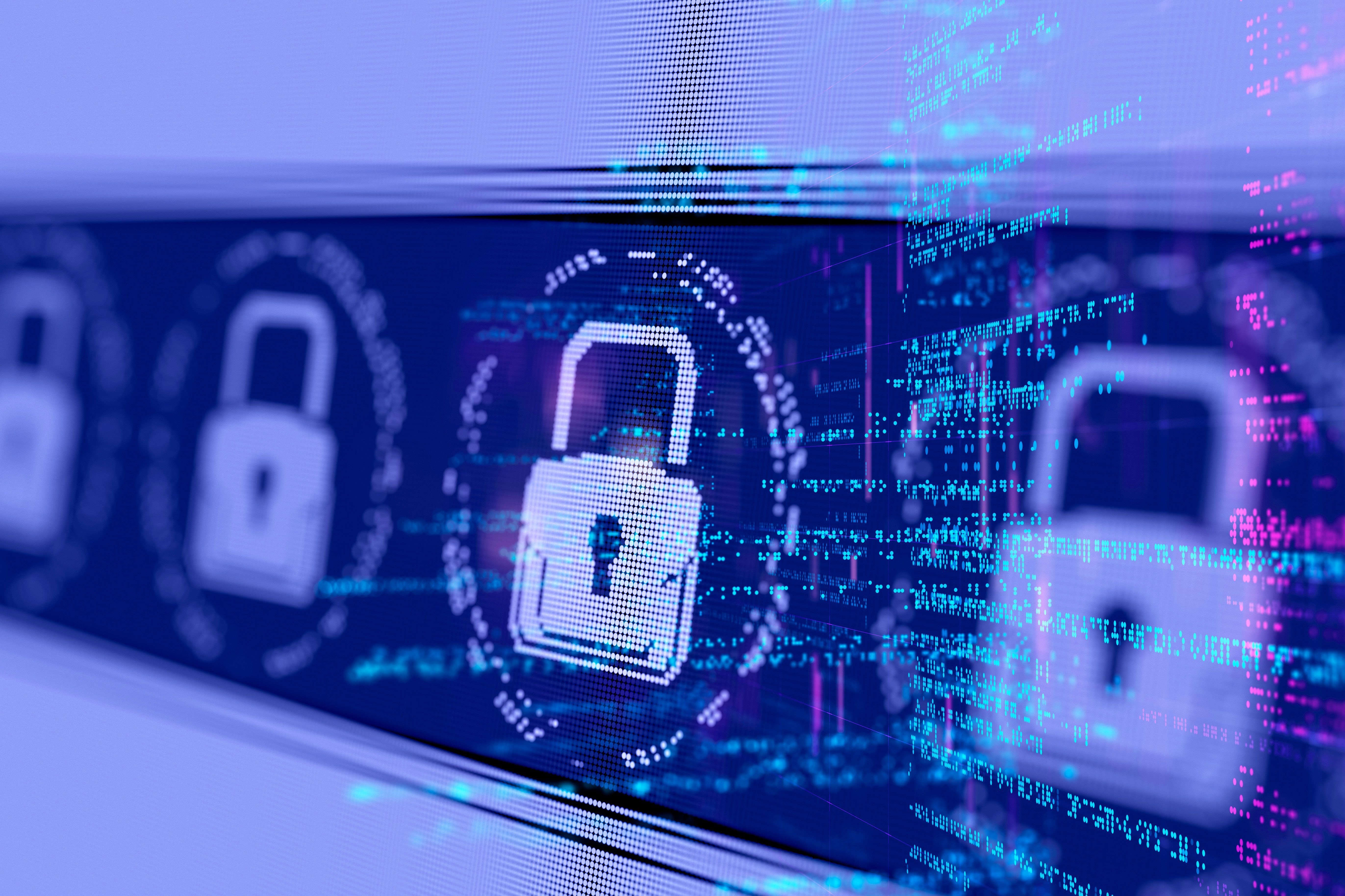 Abstract Internet Network Cyber Security concept