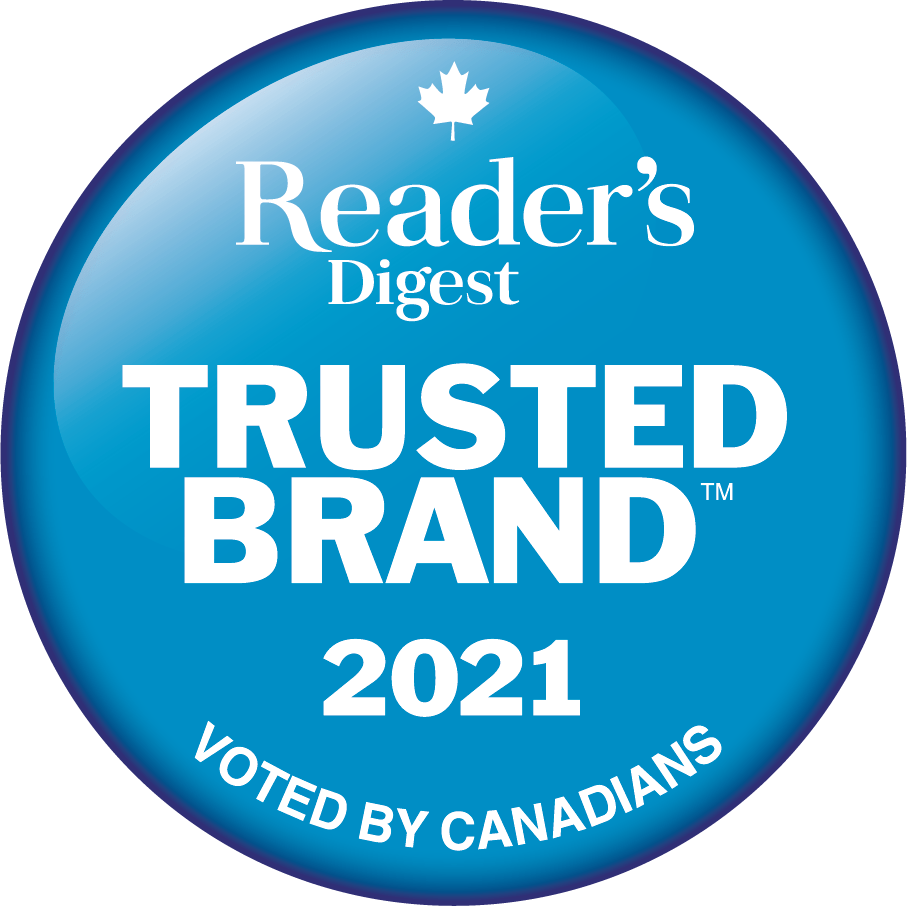 Reader's Digest Trusted Brand 2021 seal