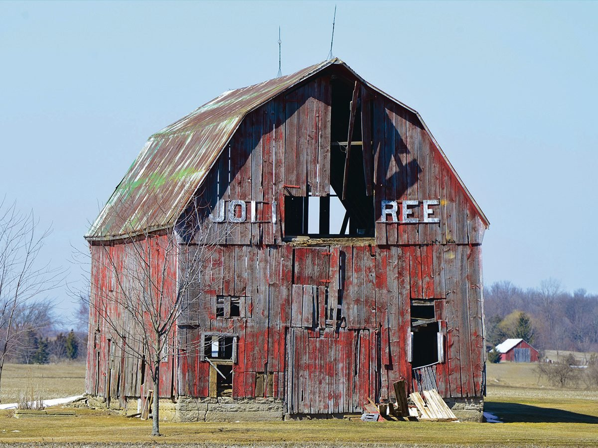 Abandoned barns west of St. Thomas, Ontario