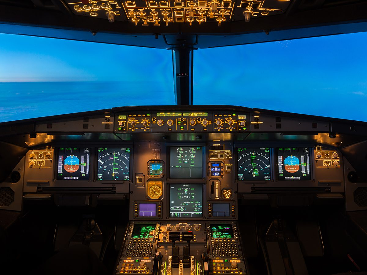 Aviation terms - flight deck of airplane