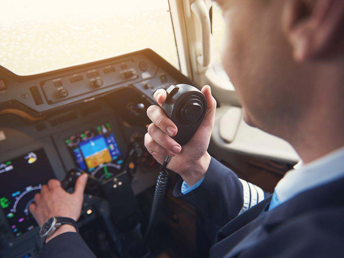 Aviation terms - pilot speaking on radio