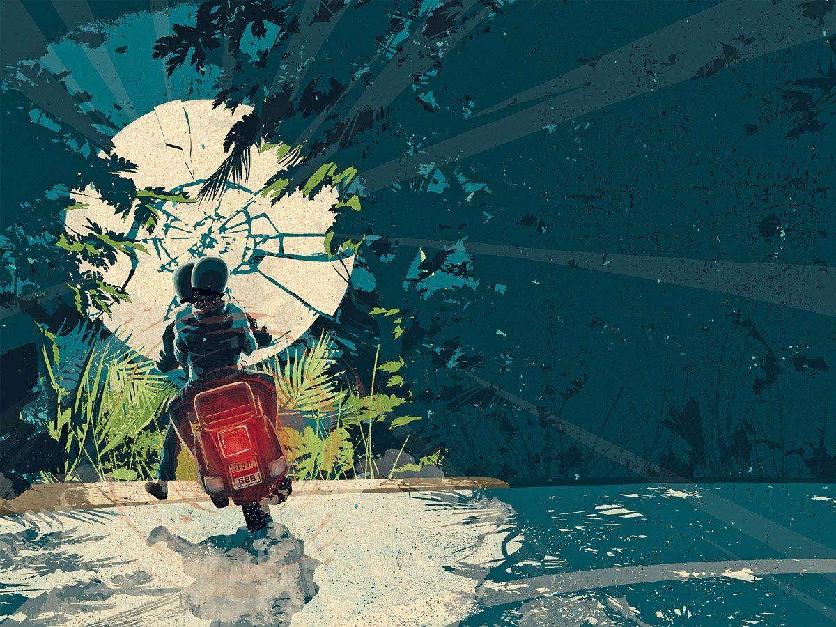 Bali jungle illustration