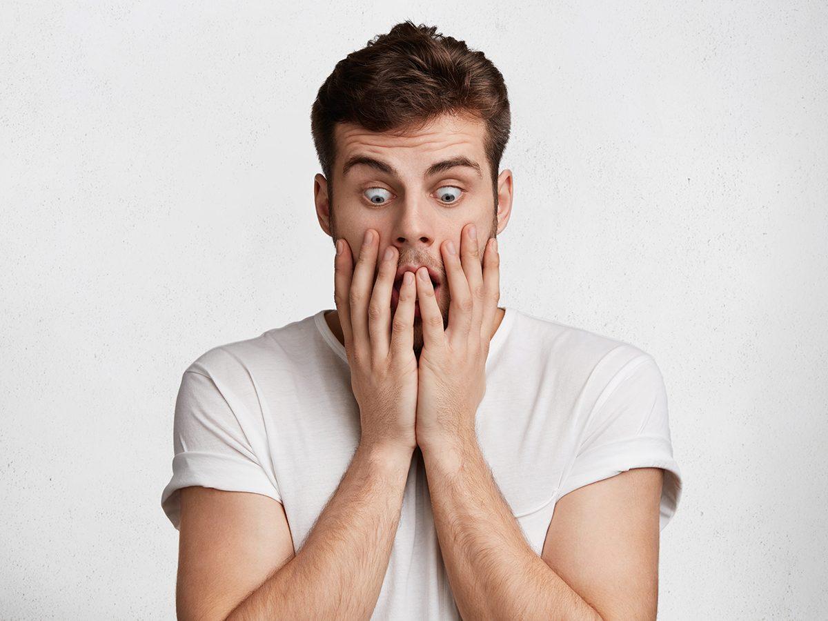 Best pi jokes - frightened man