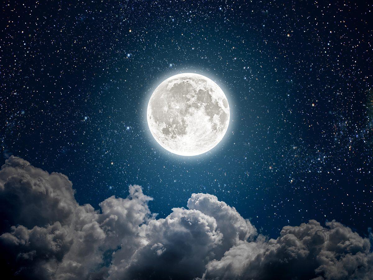 Funny parenting tweets - moon in night sky