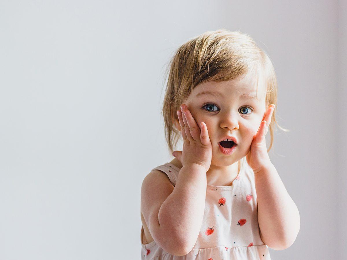 Funny parenting tweets - surprised toddler