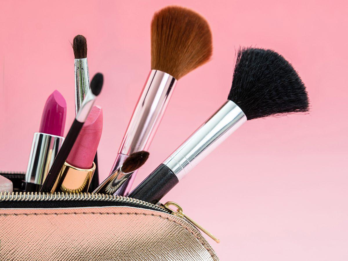 Glowing skin secrets - cosmetics bag
