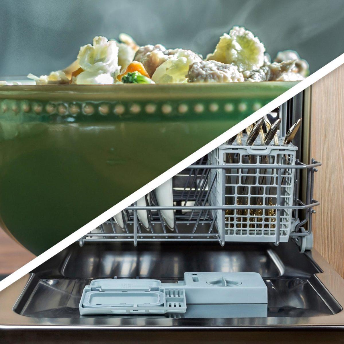 Steamed veggies and dishwasher