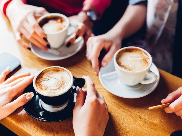 Three coffees