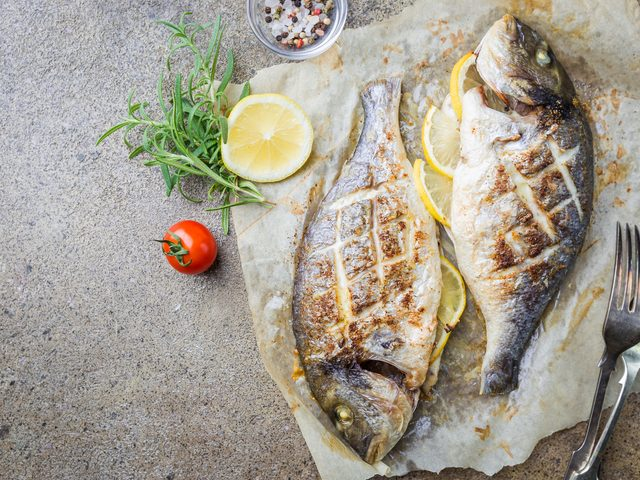 Two grilled fish