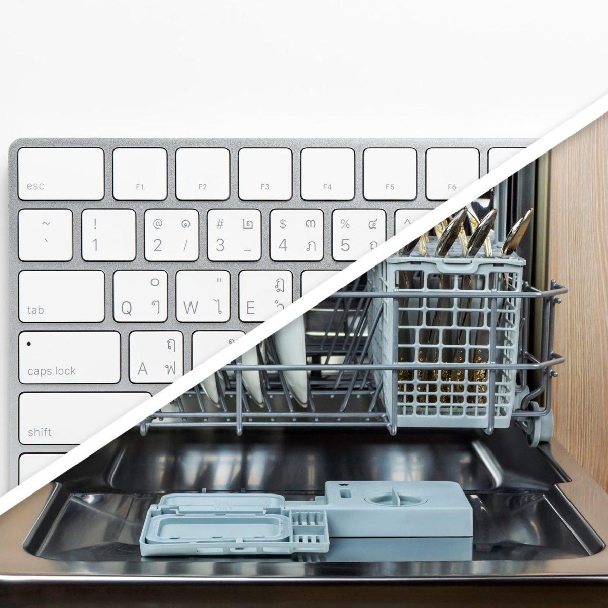 Keyboard and dishwasher