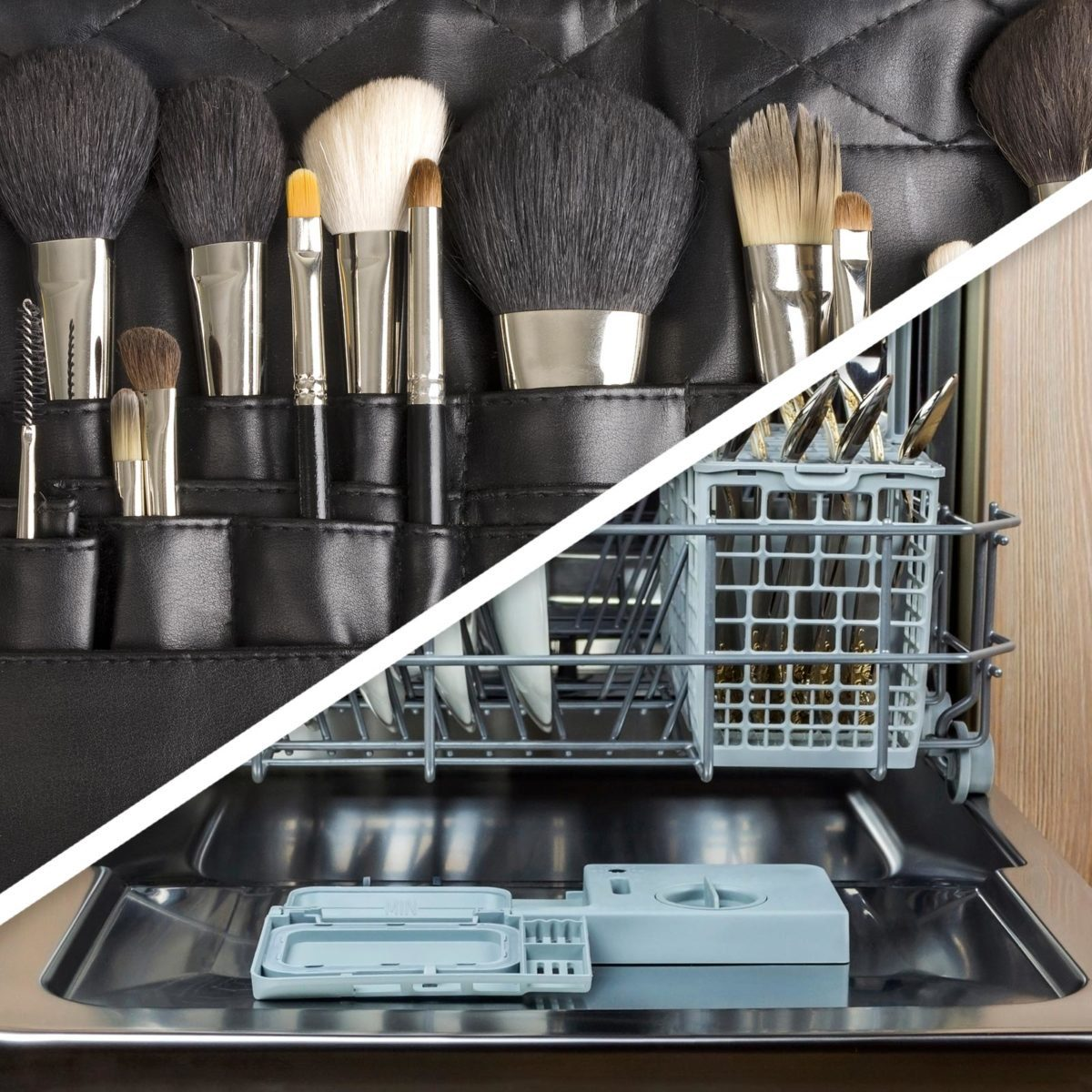 Make-up brushes and dishwasher