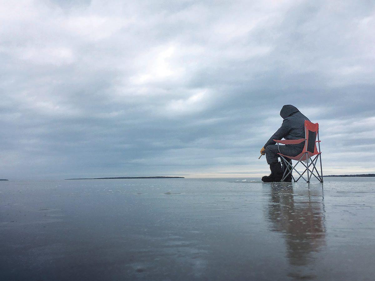 man fishsing on Monique Savoie of Moncton, N.B