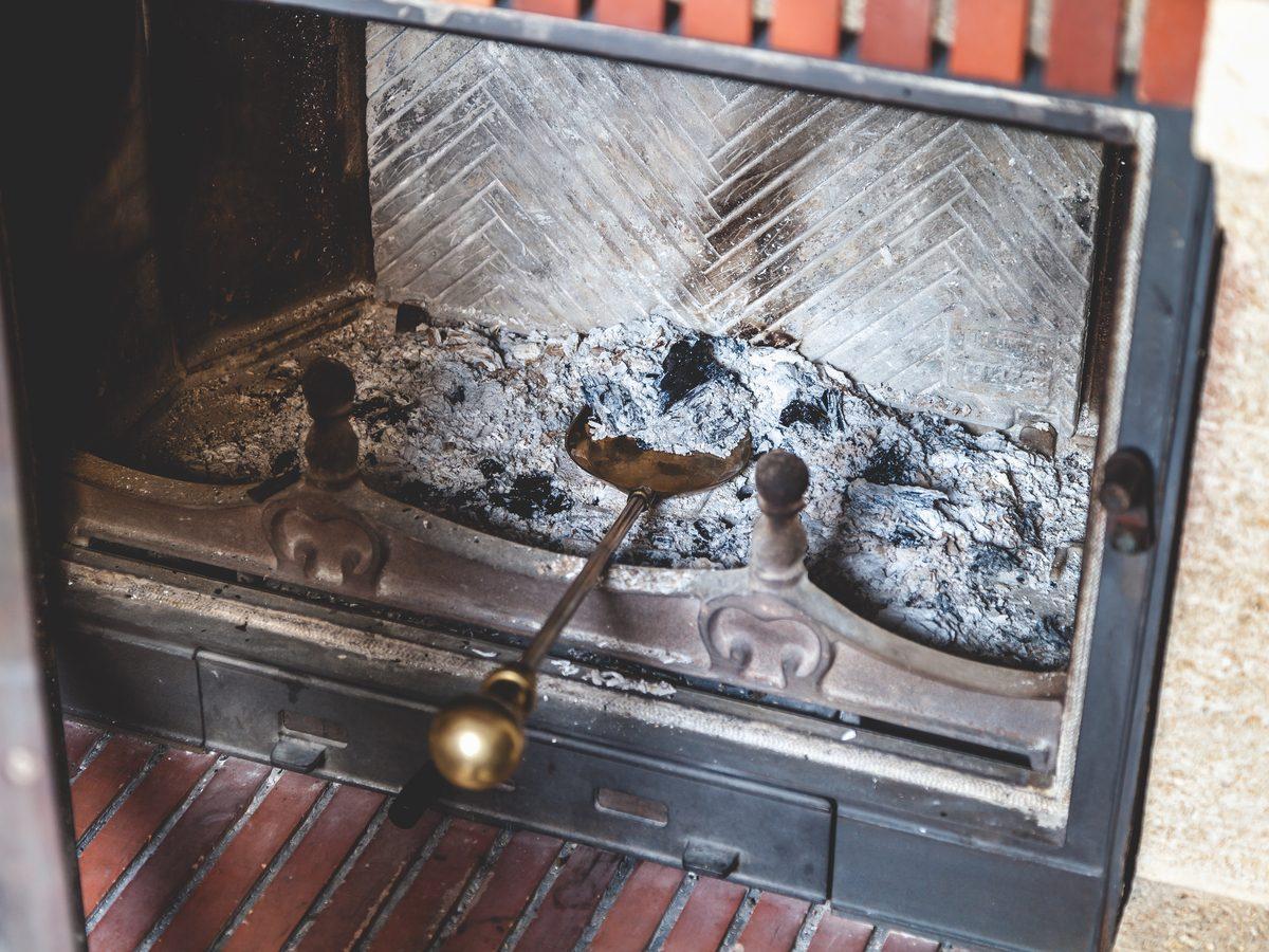 Fireplace ash