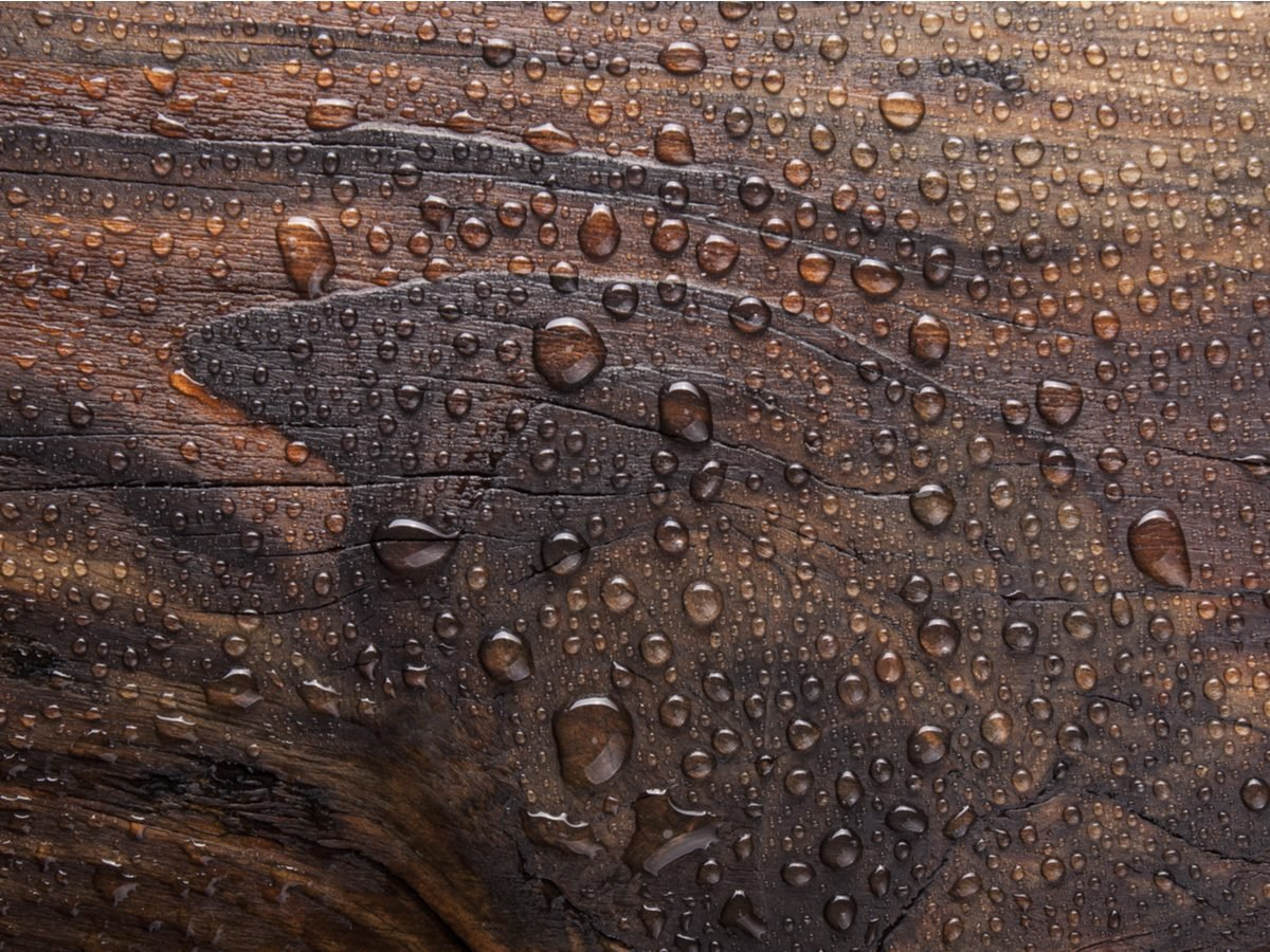 Condensation on wood