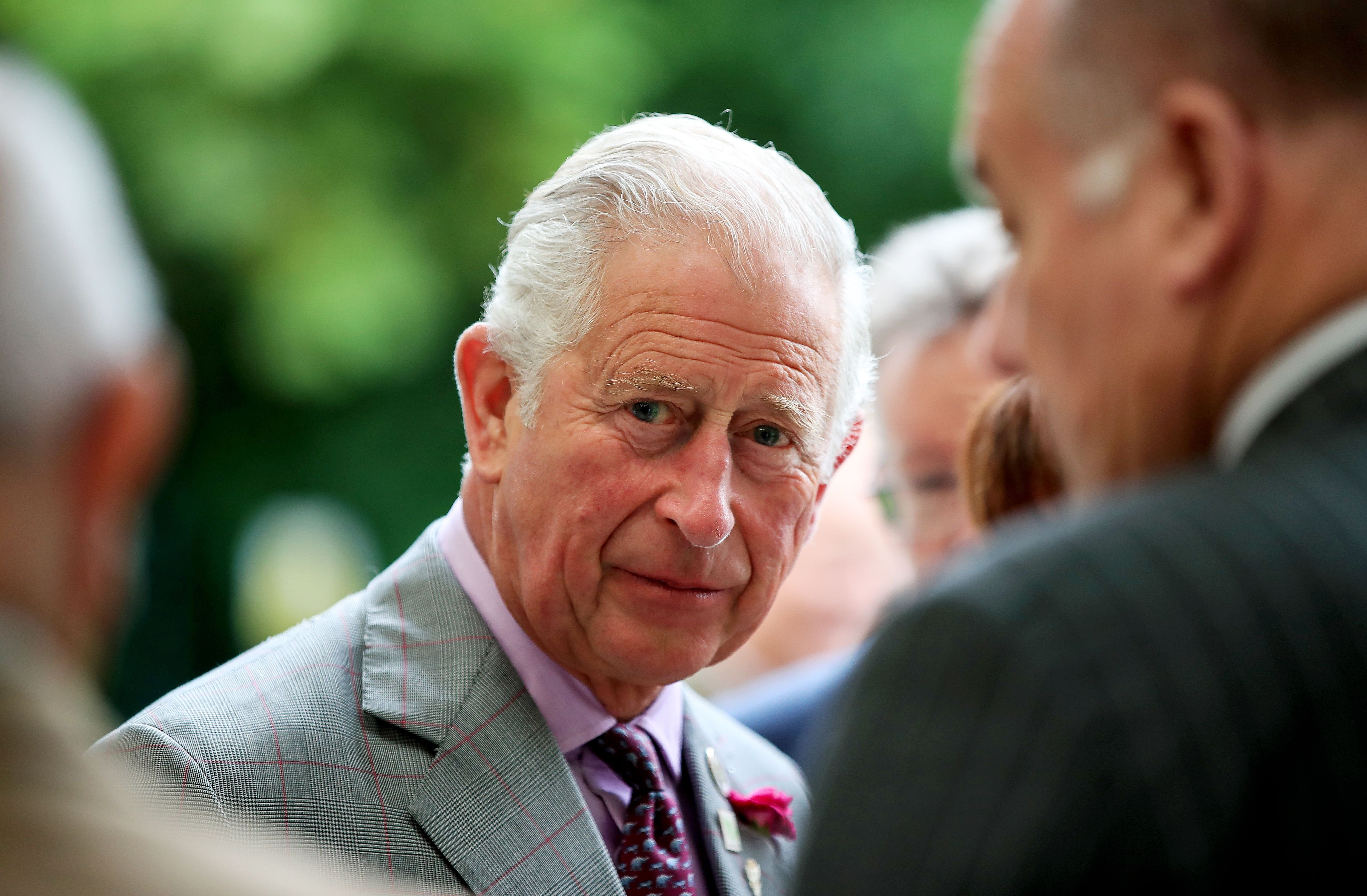 Prince Charles arrives for a visit to Woolcool in Stone, Staffordshire, to learn how they use sheep's wool to create alternative sustainable packaging for food and medicine. 19 Jul 2019