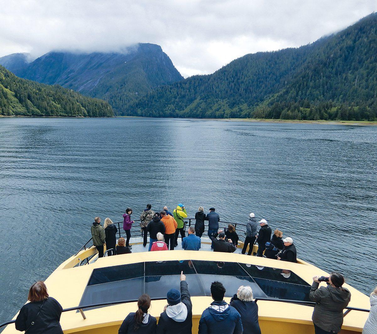 Prince Rupert, B.C., grizzly tour catamaran
