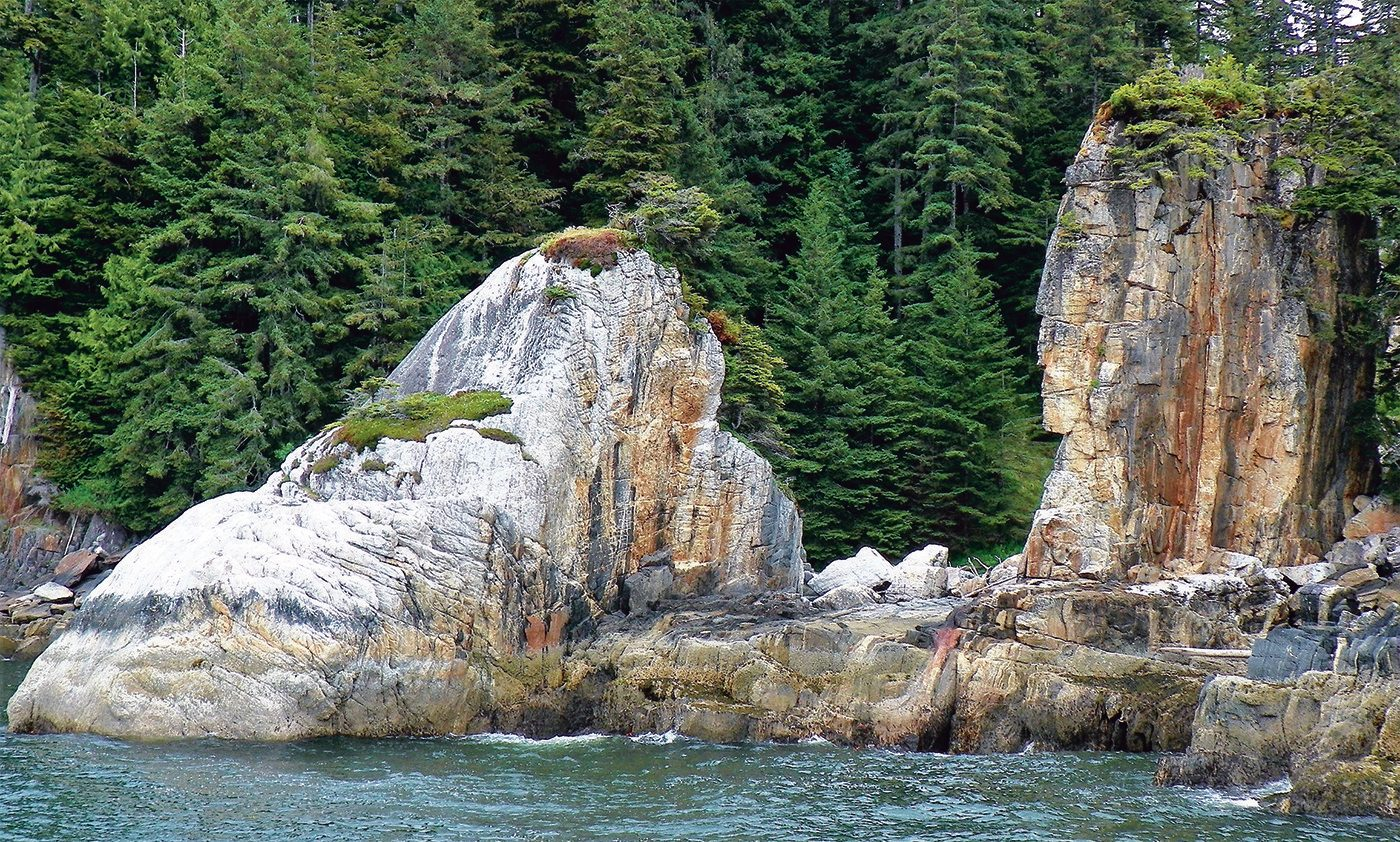 Prince Rupert, B.C., Killer Whale Rock and Indian Rock