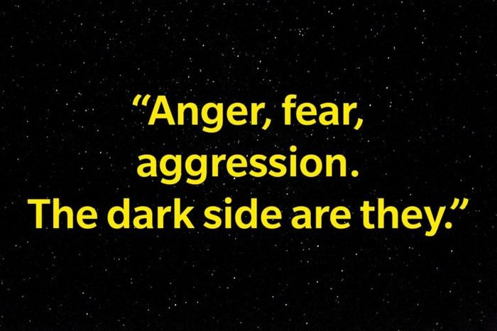 """""""Anger, fear, aggression. The dark side are they."""""""