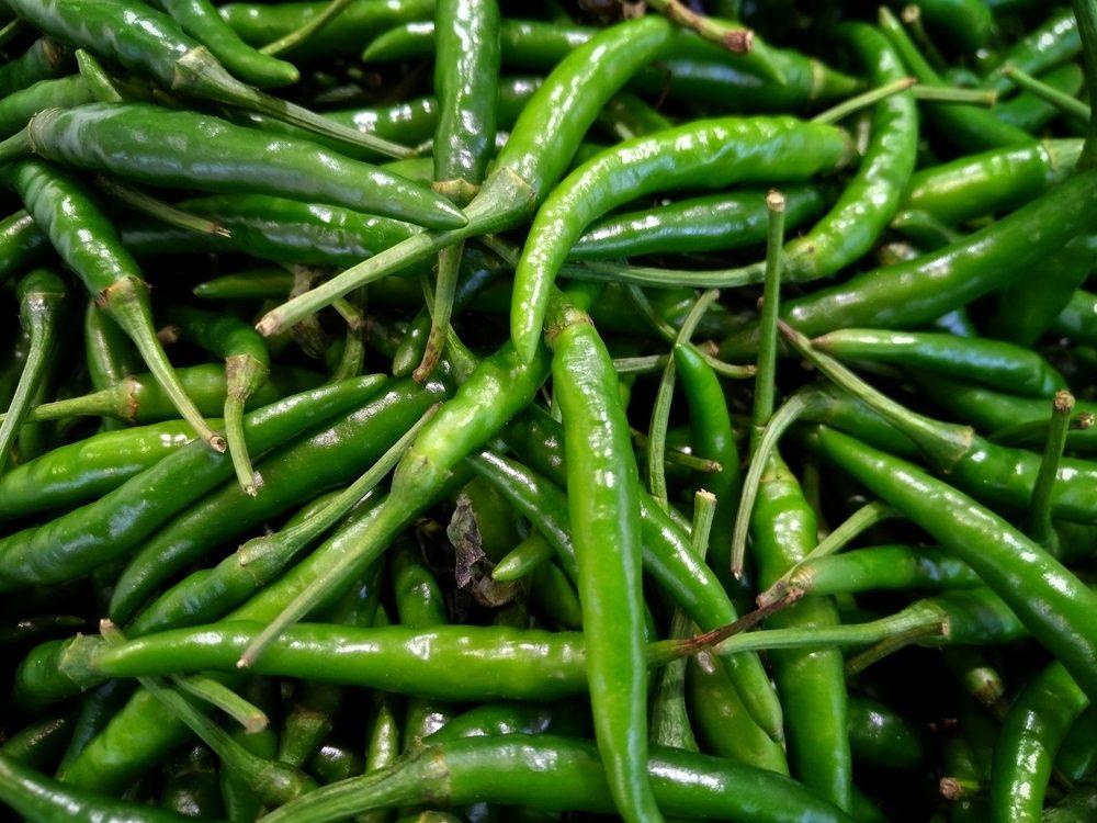 Green chili, Hot chili.