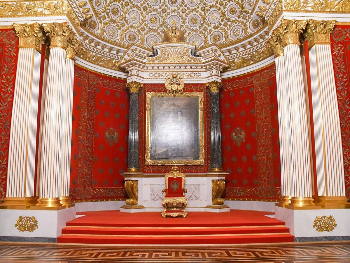 Throne room in St. Petersburg, Russia - royal terms