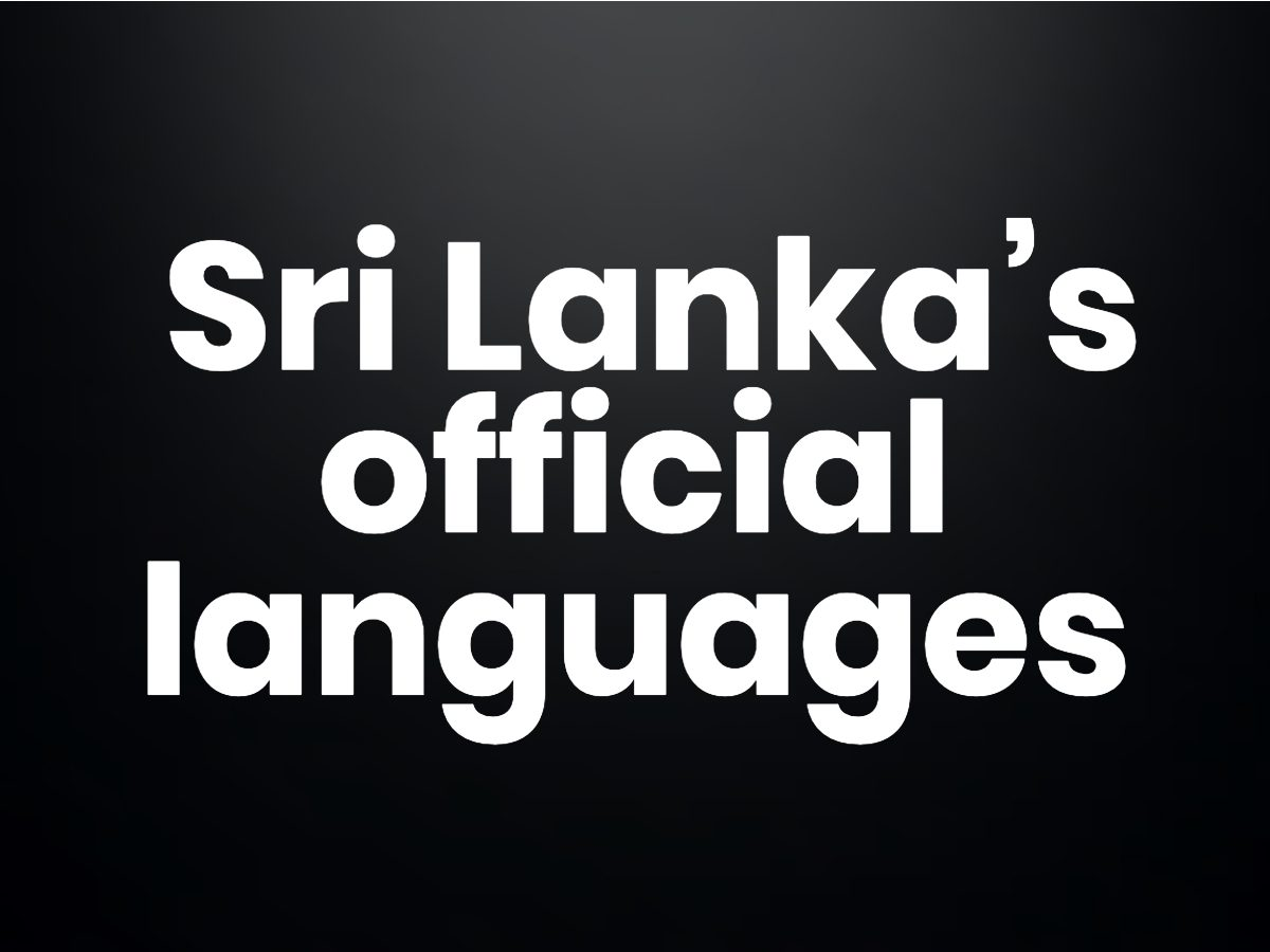 Trivia questions - Which of Sri Lanka's languages are also spoken in Singapore?