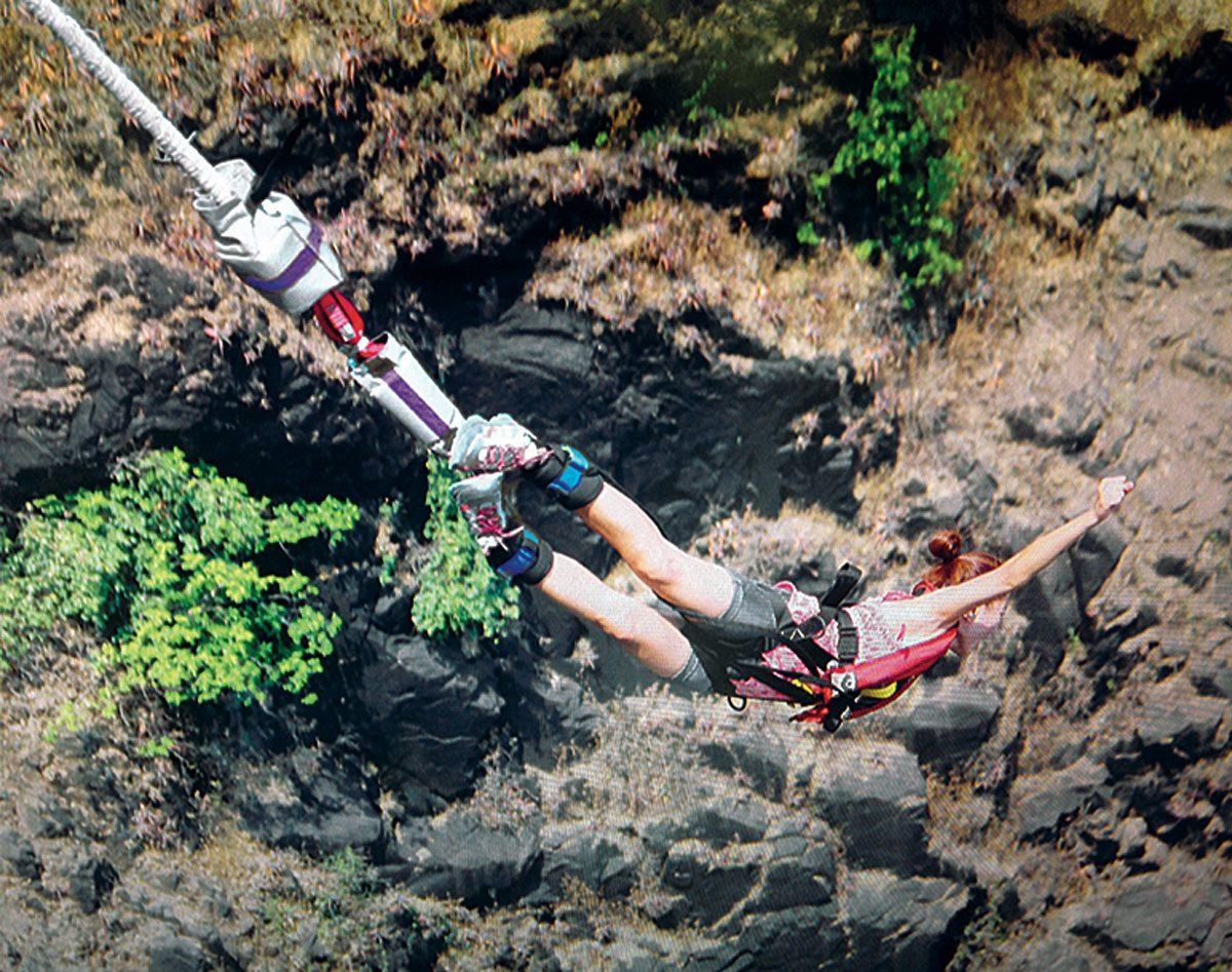 Verna Marzo jumping from Victoria Falls Bridge
