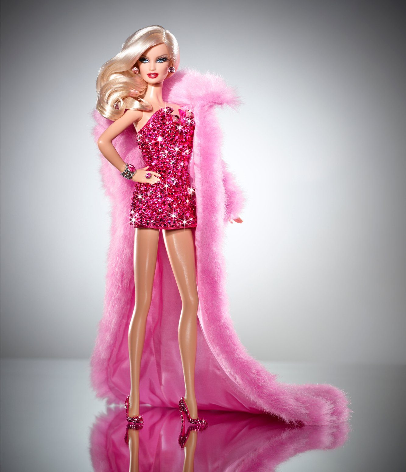 pink diamond barbie doll