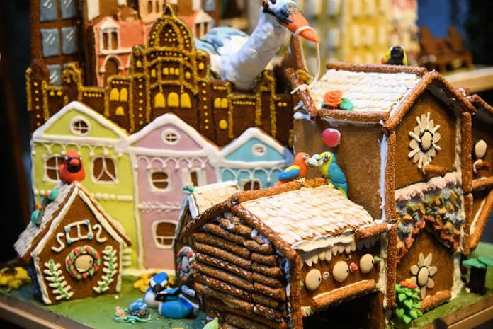 Multiple gingerbread houses