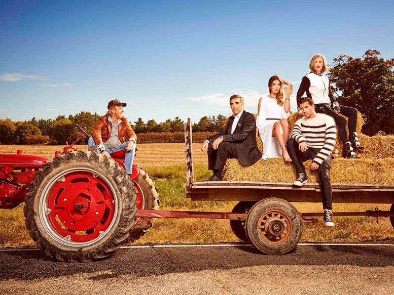 Funny Schitt's Creek quotes - Rose family on tractor
