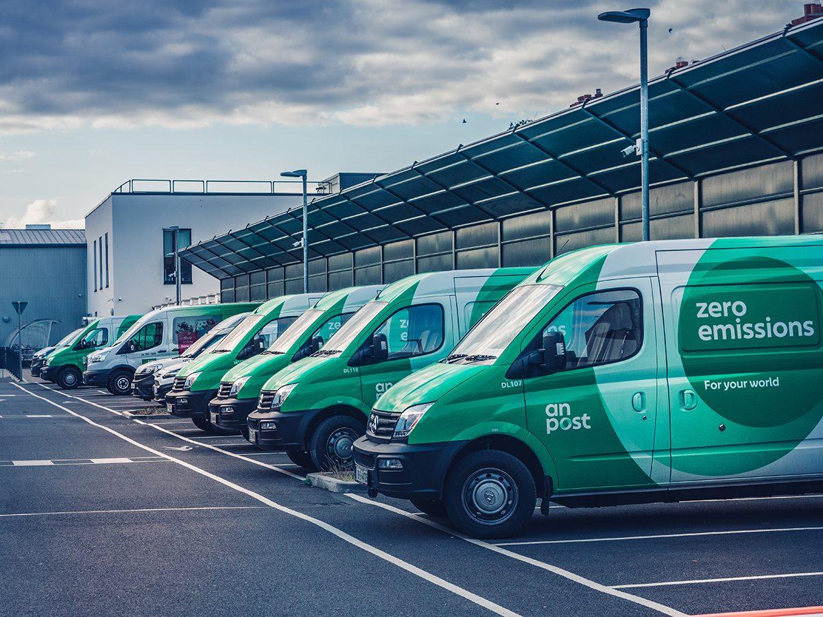 Good news - Ireland Mail trucks are now zero emission
