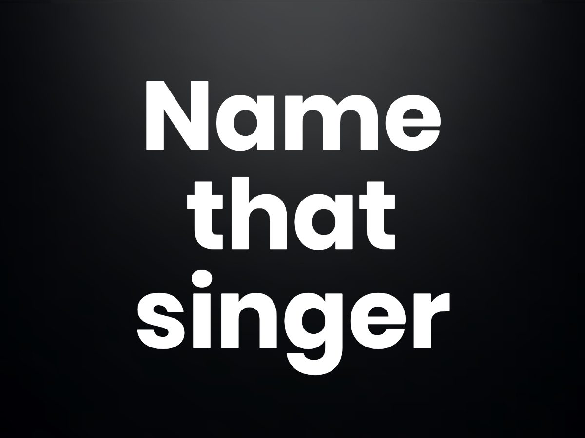 Trivia questions - Name that singer